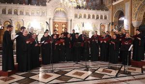 Την εκδήλωση συνέχισε η καταξιωμένη «Βυζαντινή χορωδία Αθηνών», υπό την διεύθυνση του Πρωτοψάλτη του Καθεδρικού Ιερού Ναού Παναγίας Φανερωμένης Χολαργού κ. Γεωργίου Χατζηχρόνογλου.