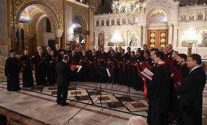 Η Βυζαντινή χορωδία «Θεόδωρος Φωκαεύς» ολοκλήρωσε την μουσική συνάντηση, αποδίδοντας επίσης υπέροχα τα Βυζαντινά μέλη που επέλεξε ο χοράρχης της κ. Χαράλαμπος Θεοτοκάτος.